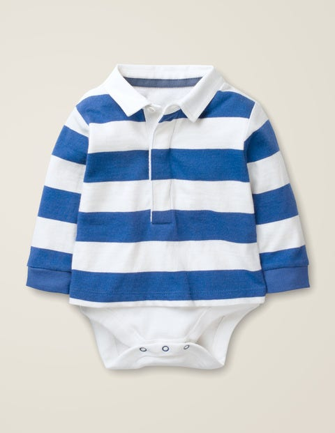 Rugby Top - Ivory/Duke Blue