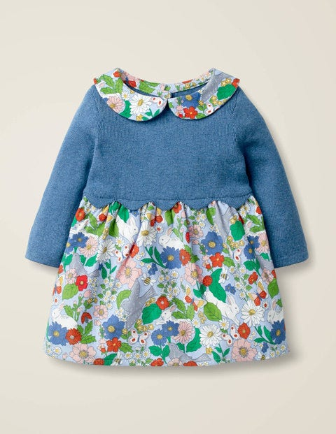 Scallop Knitted Dress - Multi Baby Florabunda
