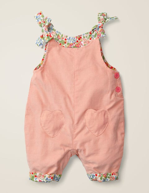 Heart Pocket Cord Dungaree