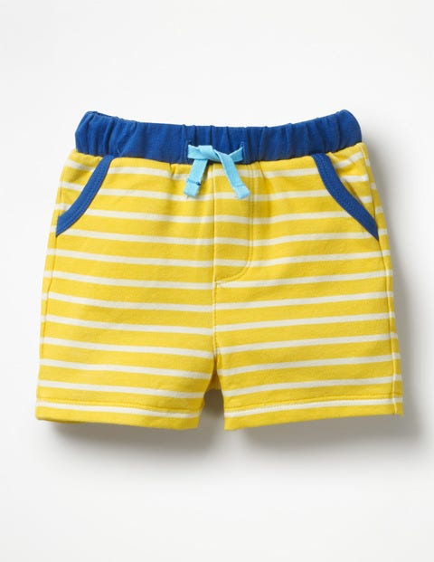 Fun Jersey Shorts - Sweetcorn Yellow/White Stripe