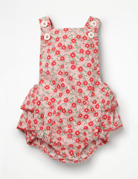 Frilly Printed Romper