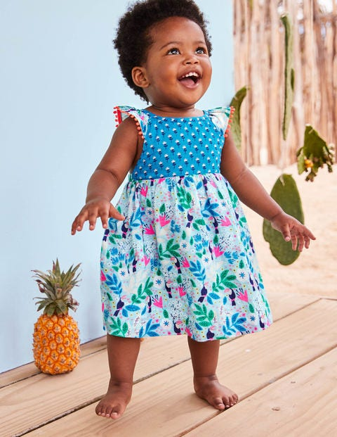 Hotchpotch Woven Dress - Multi Toucan Garden