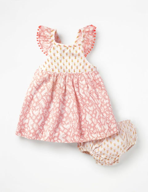 Hotchpotch Woven Dress - Shell Pink Folk Friends