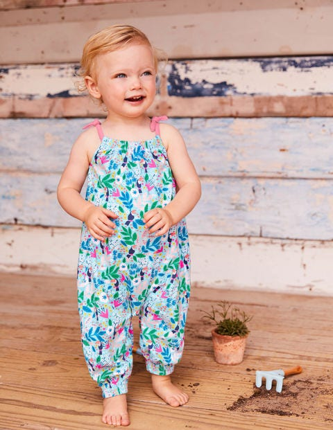 Jersey Summer Playsuit - Multi Toucan Garden