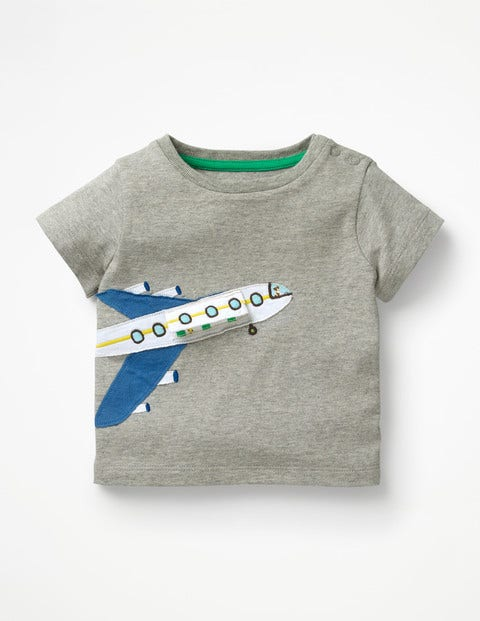 Fun T-Shirt - Grey Marl Plane