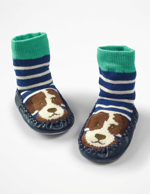 Slipper Socks - Starboard Blue/Ecru