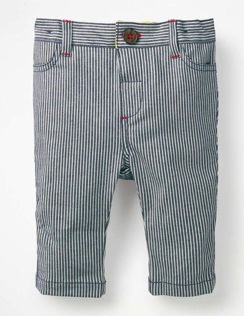 Colourful Chino Pants - Indigo Blue Ticking