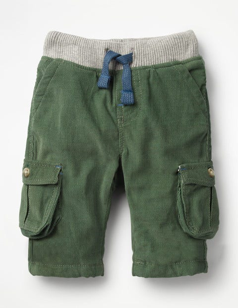 Pull-On Cargo Trousers - Rosemary Green