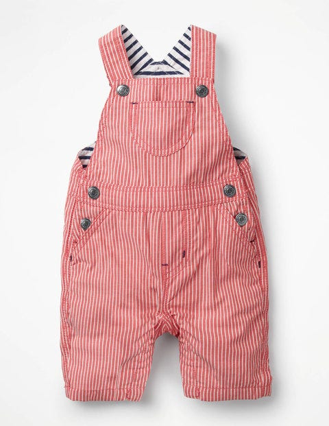 Woven Dungarees - Beam Red Ticking Stripe