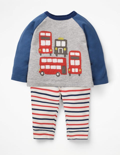 Fun Jersey Play Set - Jam Red/College Blue Buses