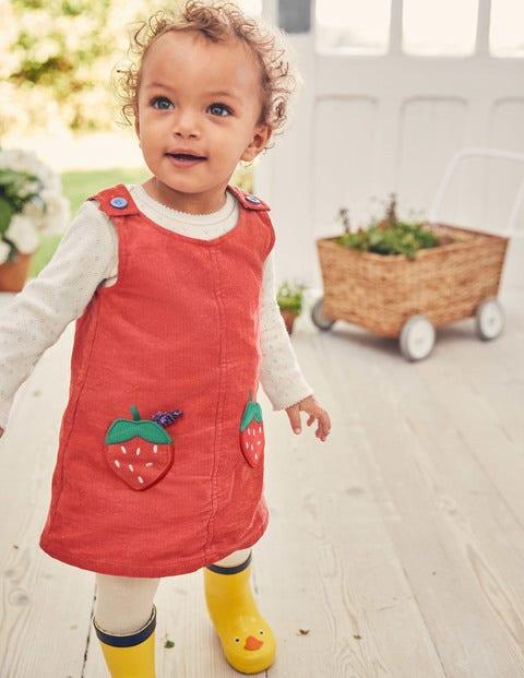 Pocket Cord Dress - Jam Red