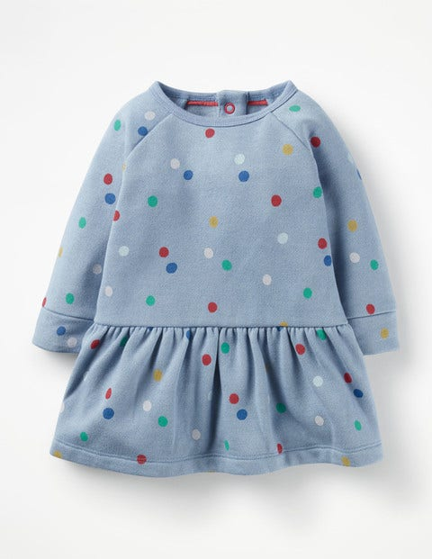 Colourful Cosy Dress - Multi Painted Spot