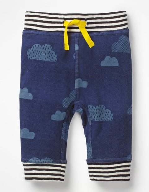 Fun Reversible Trousers - College Blue Clouds