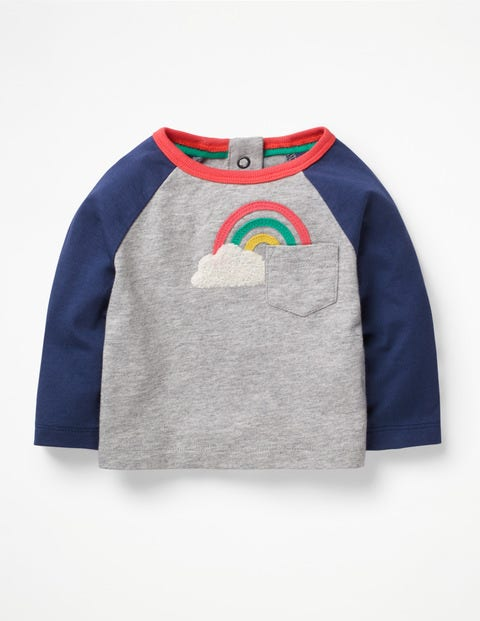Wonderful Weather T-Shirt - Grey Marl Rainbow