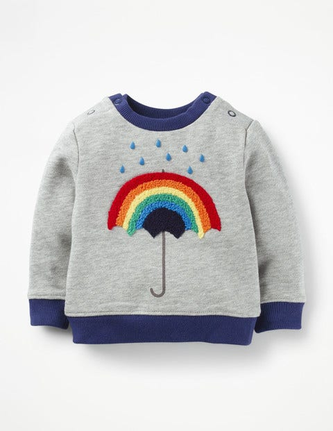 Cosy Sweatshirt - Grey Marl Rainbow