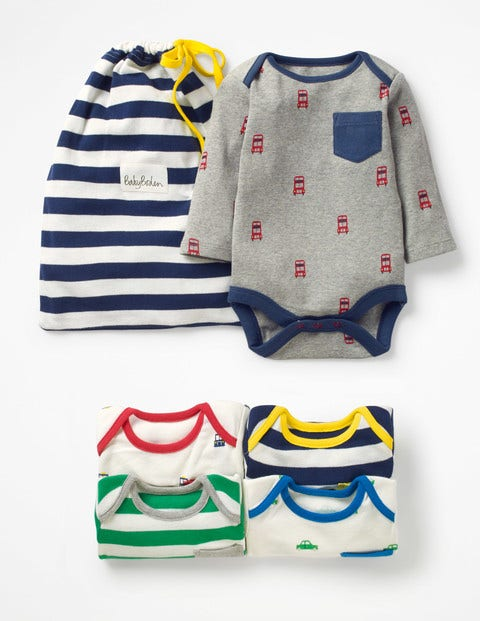 Fun 5 Pack Bodysuit - Stripe Pack