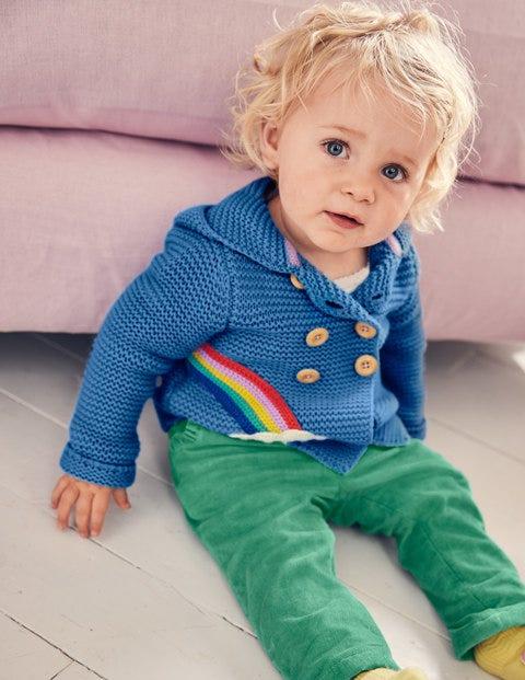 Rainbow Knitted Jacket - Elizabethan Blue Rainbow
