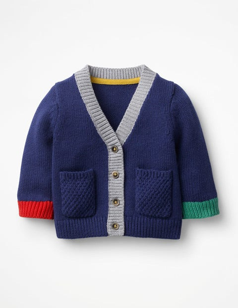 Hotchpotch Knitted Cardigan - College Blue
