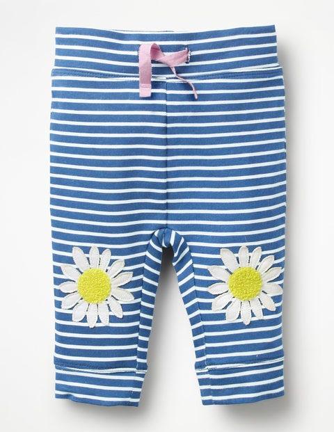 Fun Jersey Pants - Ivory/Elizabethan Blue Daisies