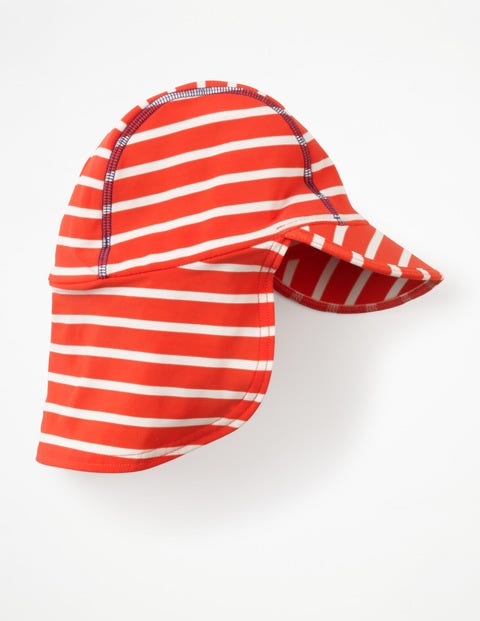 Fun Swim Hat - Ivory/Jam Red