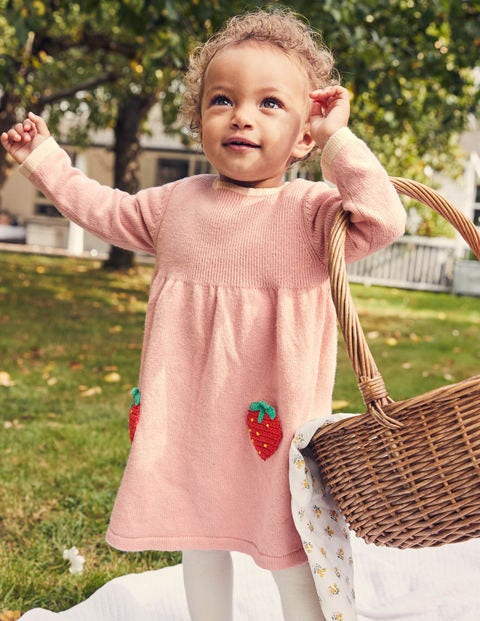 Crochet Strawberry Dress - Provence Dusty Pink