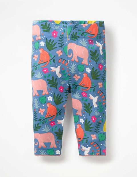 Baby Leggings - Elizabethan Blue Indian Garden