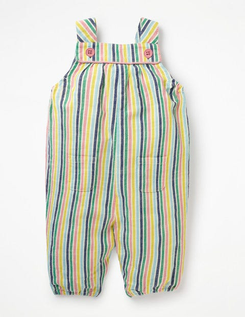 Stripy Woven Dungaree - Multi Candy Stripe