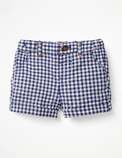 Colourful Woven Shorts - Starboard Blue Gingham