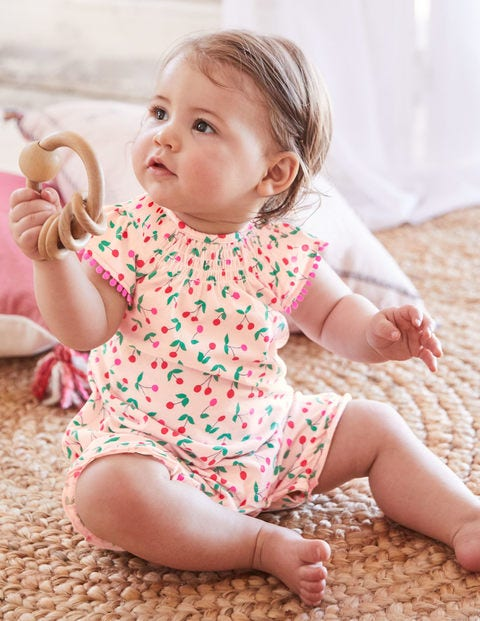 Sweet Cherry Romper - Parisian Pink Cherries