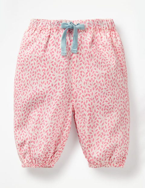 Detailed Woven Pants - Flamingo Pink Sweet Berry