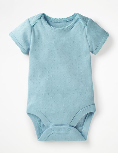 Sweet Pointelle Body - Mineral Blue