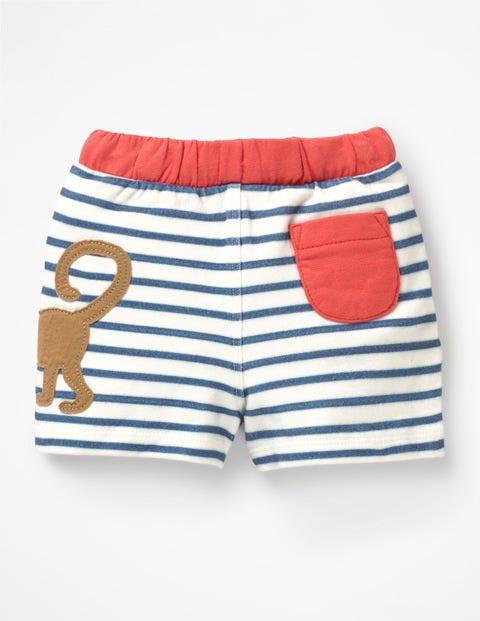 5ccc528eb Fun Jersey Shorts - White/Lagoon Blue Monkey | Boden UK