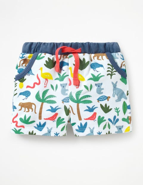 Fun Jersey Shorts - Multi Aussie Animals