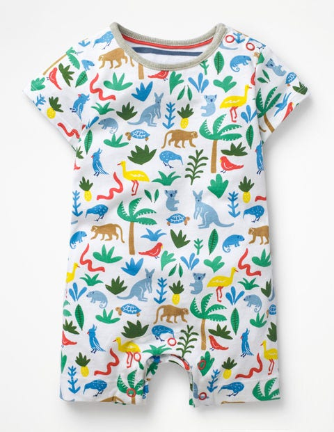 Animal Jersey Romper - Multi Aussie Animals