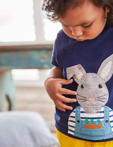 On-The-Farm T-Shirt - College Blue Bunny