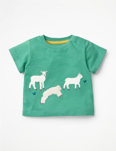 On-The-Farm T-Shirt - Jungle Green Lambs