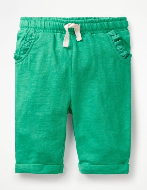 Slub Jersey Trousers - Jungle Green