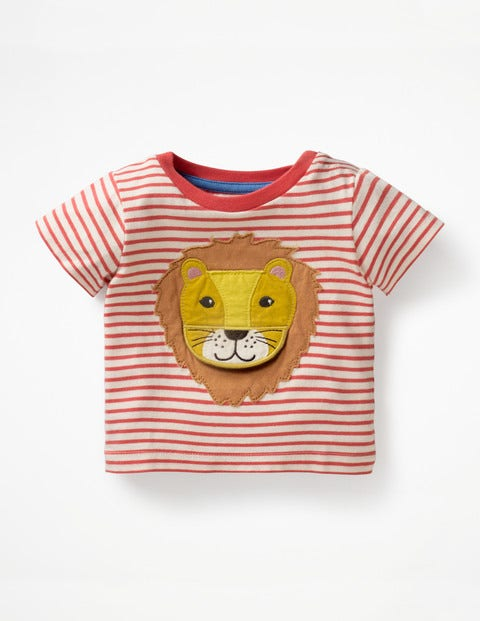 Animal Adventures T-Shirt - White/Jam Red Lion