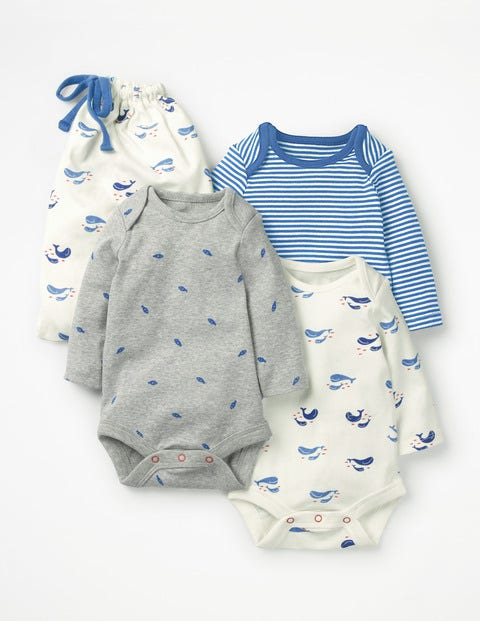 3 Pack Whales Bodysuits