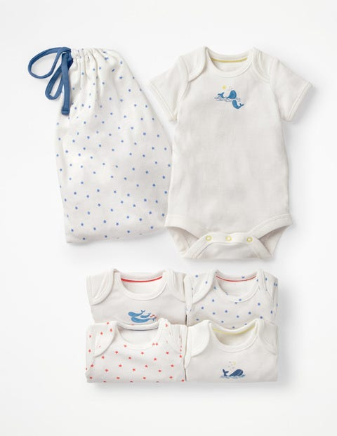 5 Pack Whales Bodies - Ivory Baby Whales
