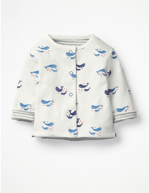 Whales Reversible Jacket - Ivory Baby Whales