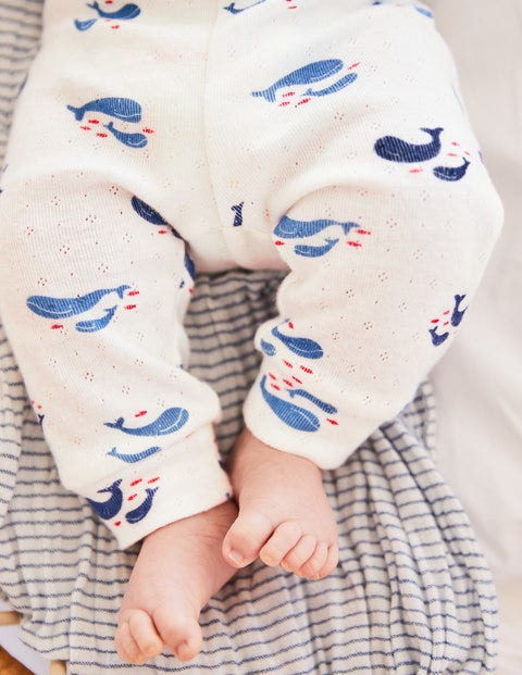 Whales Cosy Pointelle Pack - Ivory Baby Whales