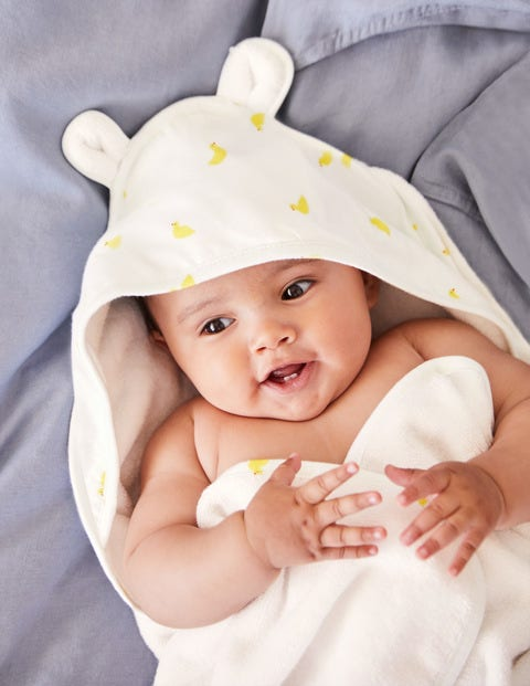 Supersoft Hooded Towel - Yellow Baby Ducks