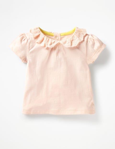 Broderie Collar T-Shirt - Parisian Pink