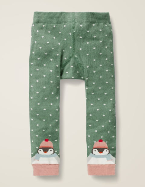 Knitted Leggings - Camp Green