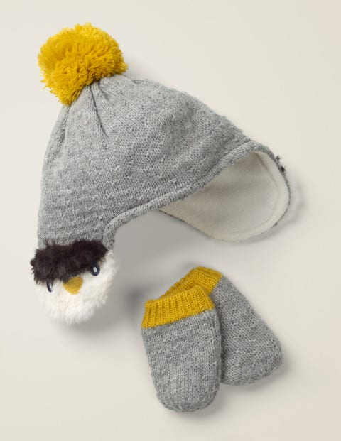 Cosy Knitted Hat & Mittens Set