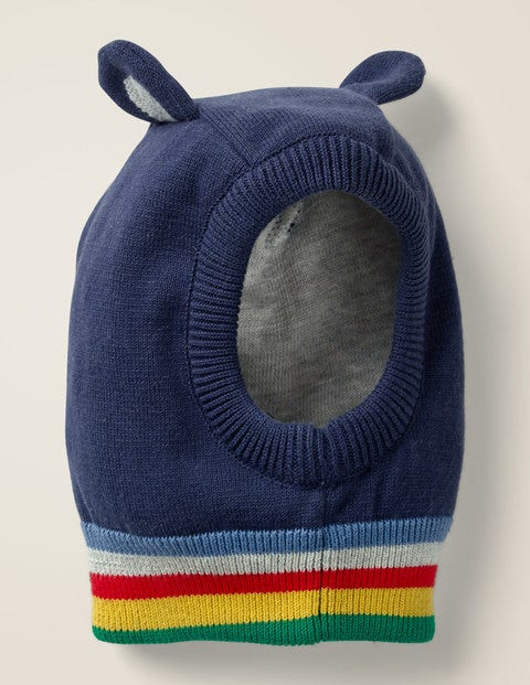 Novelty Knitted Hat - Starboard Blue/Grey Marl