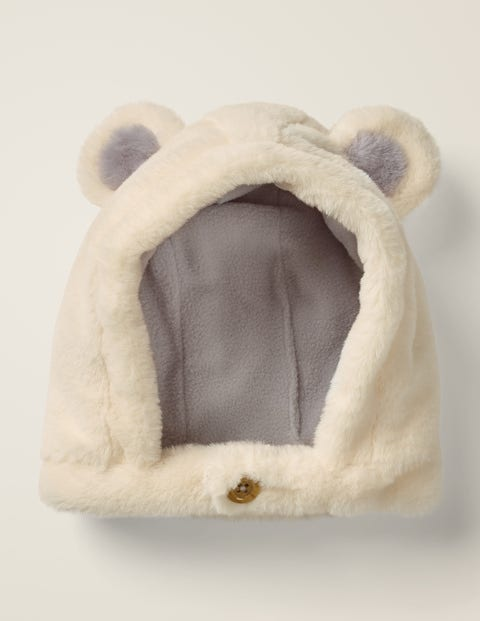 Cosy Bear Hat - Ecru