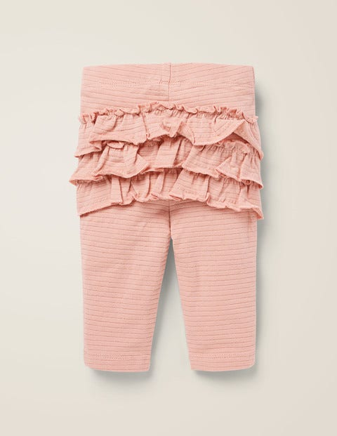 Sparkle Ruffle Leggings - Chalky Pink/Gold Lurex
