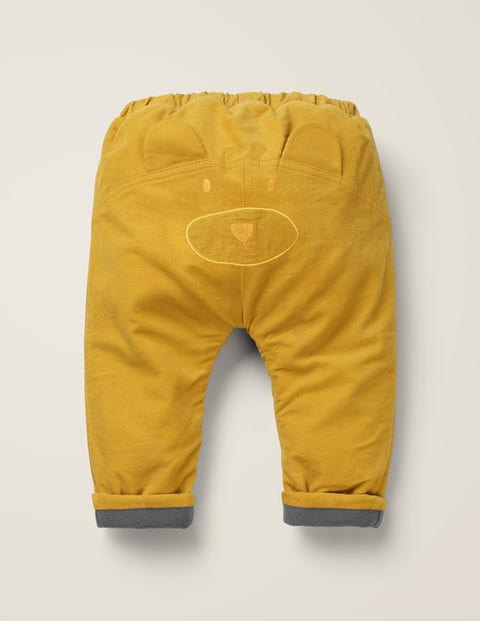 Fleece Lined Cord Pants - Mellow Yellow